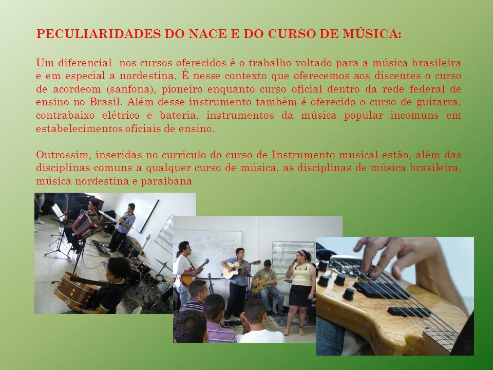PERFIL PROFISSIONAL DE CONCLUSÃO DO TÉCNICO EM MÚSICA A produção artístico-musical caracteriza-se pela aquisição e interpretação como também pela preservação e utilização da linguagem musical.