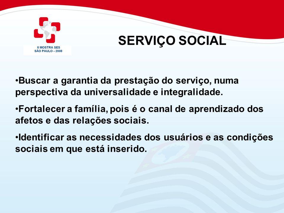 Identificar e apoiar a família nas situações de risco social.