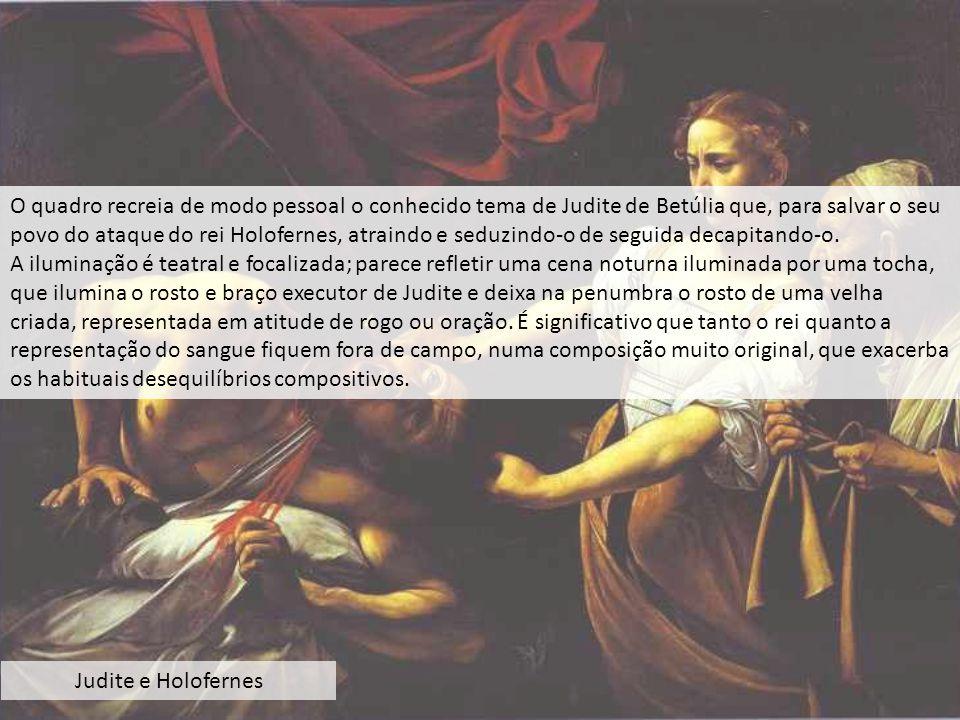 O quadro recreia de modo pessoal o conhecido tema de Judite de Betúlia que, para salvar o seu povo do ataque do rei Holofernes, atraindo e seduzindo-o