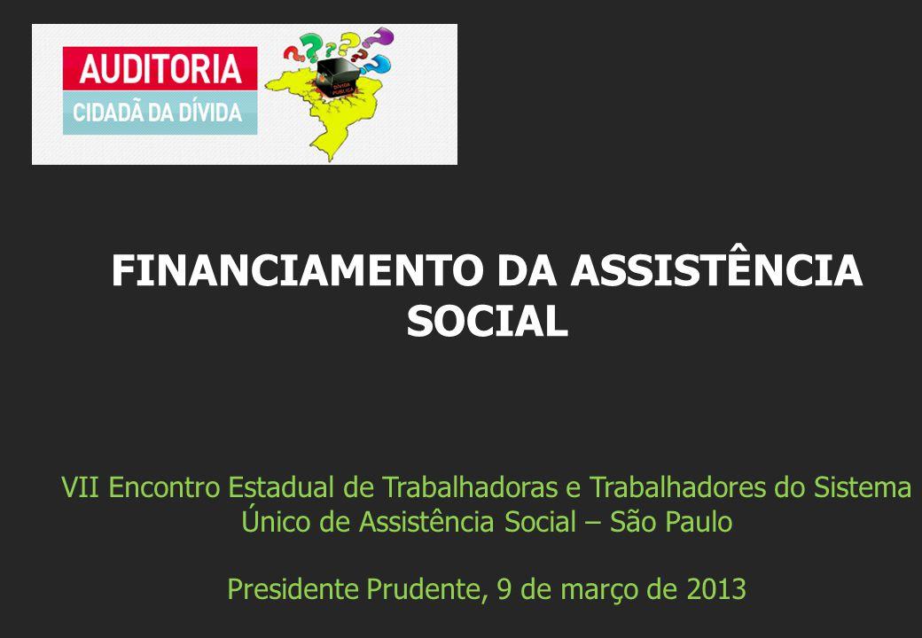 VII Encontro Estadual de Trabalhadoras e Trabalhadores do Sistema Único de Assistência Social – São Paulo Presidente Prudente, 9 de março de 2013 FINA