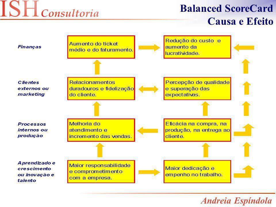Balanced ScoreCard Causa e Efeito Andreia Espíndola