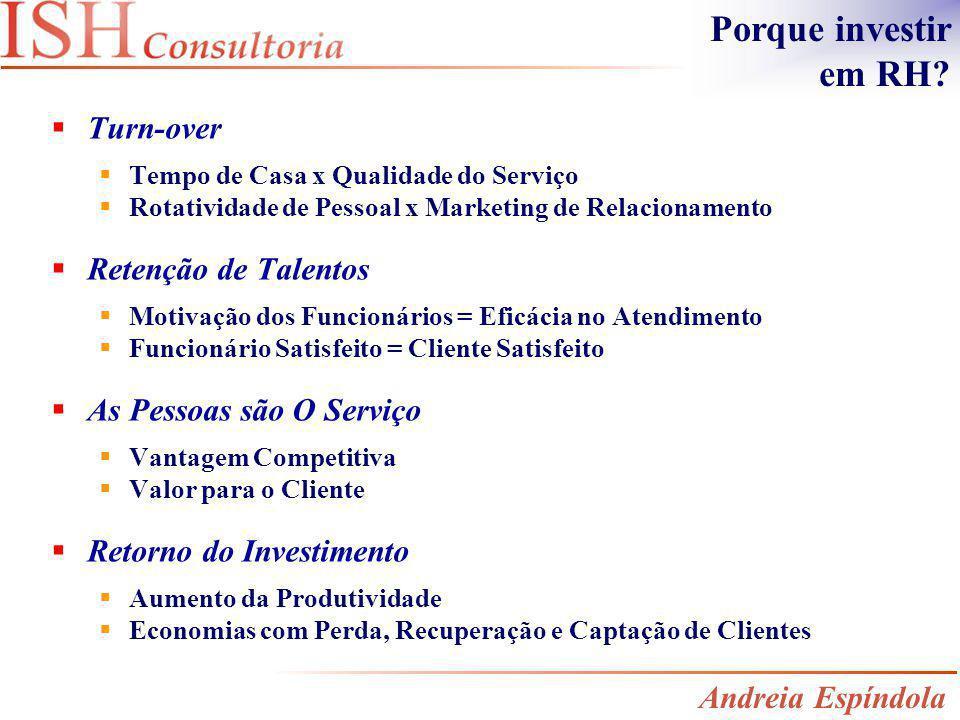 Turn-over Tempo de Casa x Qualidade do Serviço Rotatividade de Pessoal x Marketing de Relacionamento Retenção de Talentos Motivação dos Funcionários =