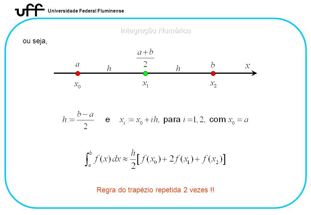 Universidade Federal Fluminense ou seja, Regra do trapézio repetida 2 vezes !!