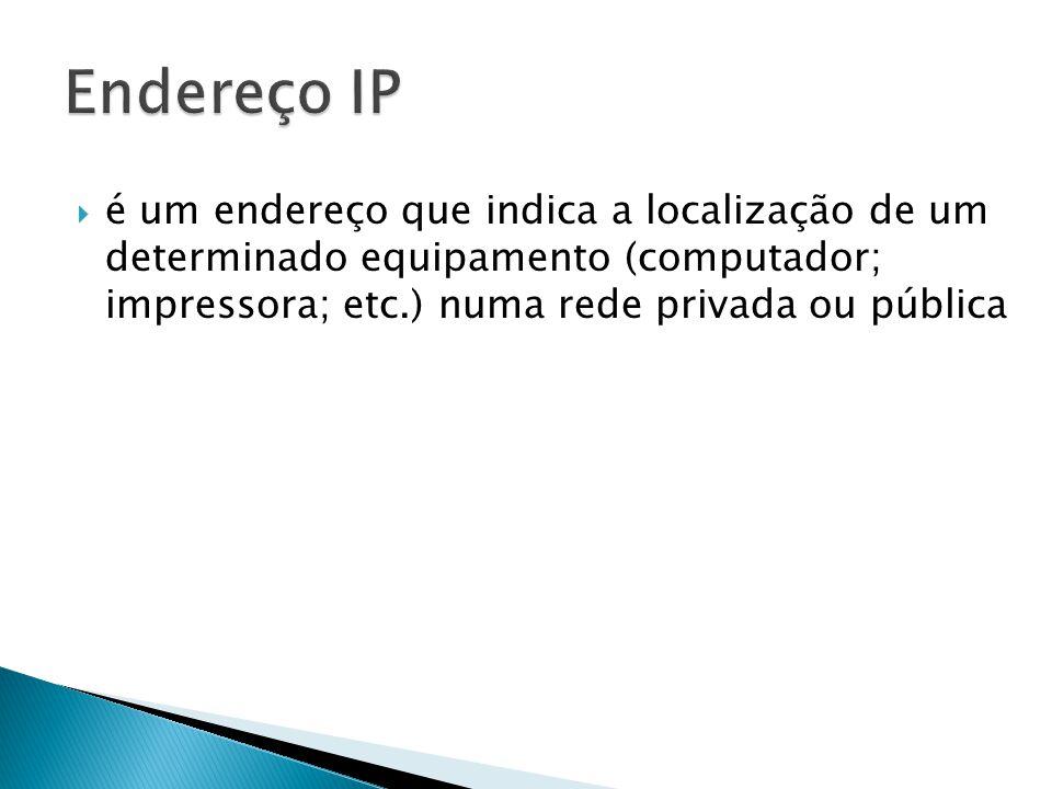 Se enviarmos dados de um computador para outro, o primeiro precisa saber o endereço IP do destinatário e este precisa saber o IP do emissor, caso a comunicação exija uma resposta.