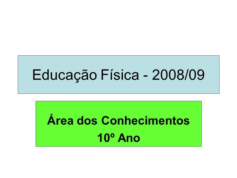 Educação Física - 2008/09 Área dos Conhecimentos 10º Ano