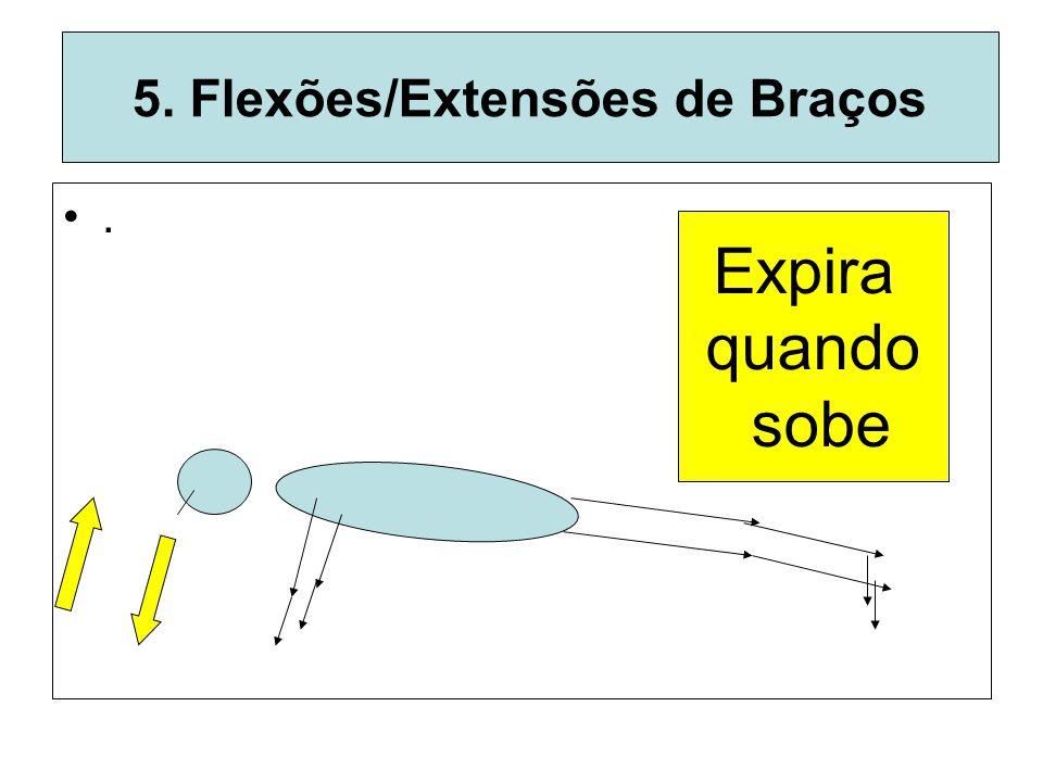 5. Flexões/Extensões de Braços. Expira quando sobe