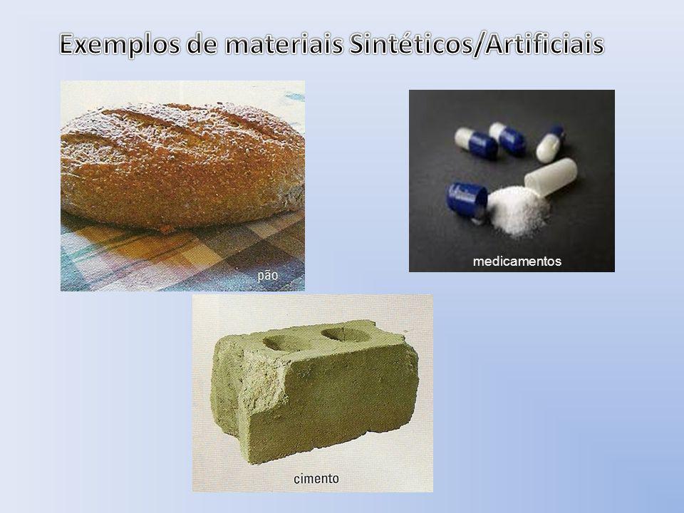 Todos os materiais são formados por apenas uma substância ou mistura de substâncias.
