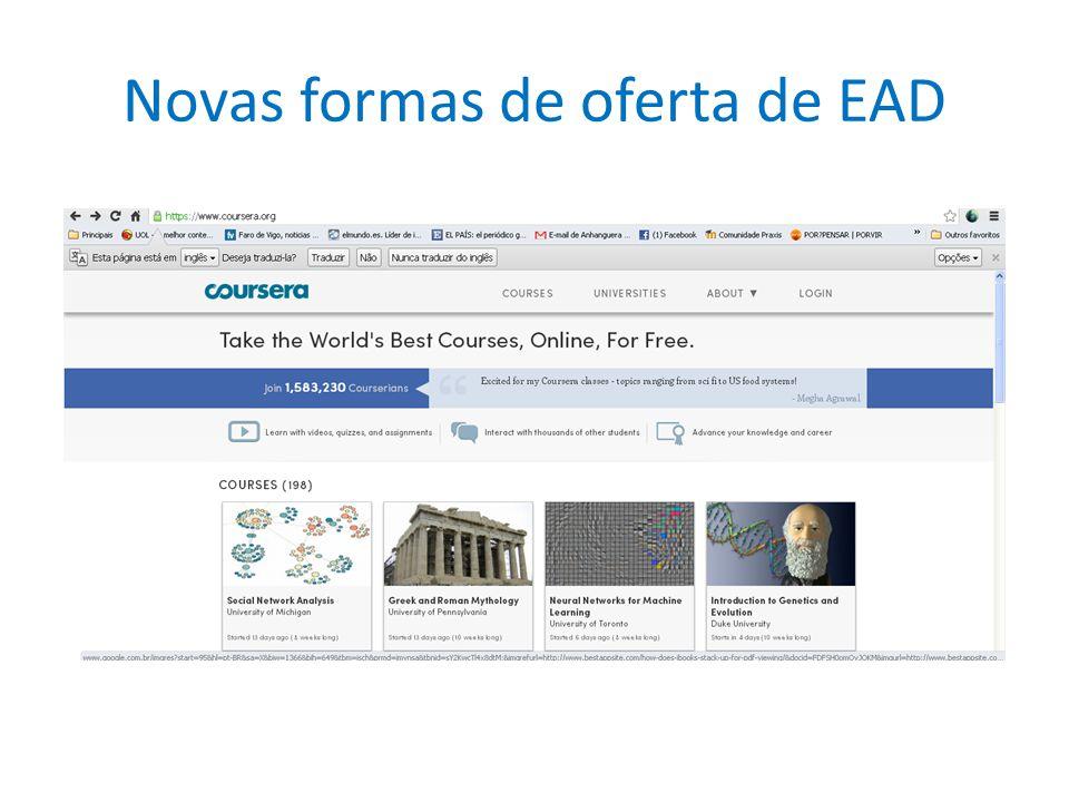 Novas formas de oferta de EAD