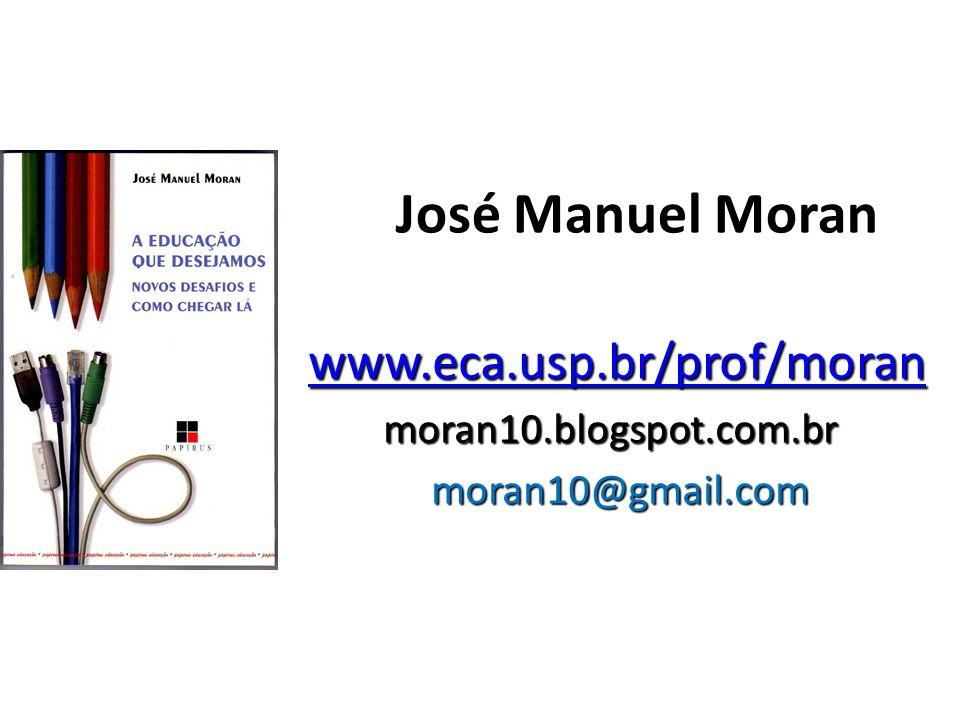 José Manuel Moran www.eca.usp.br/prof/moran www.eca.usp.br/prof/moranwww.eca.usp.br/prof/moran moran10.blogspot.com.br moran10@gmail.com moran10@gmail