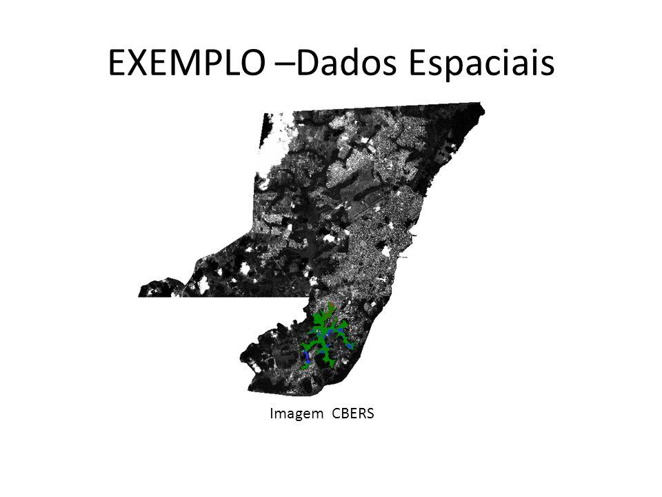EXEMPLO –Dados Espaciais Imagem CBERS