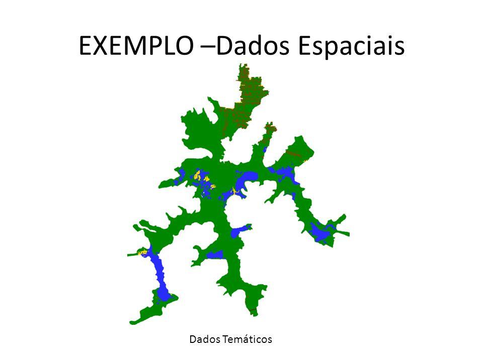 EXEMPLO –Dados Espaciais Dados Temáticos
