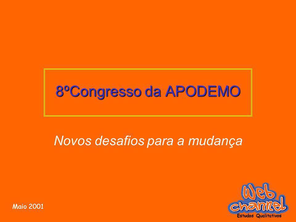 8ºCongresso da APODEMO Novos desafios para a mudança Maio 2001