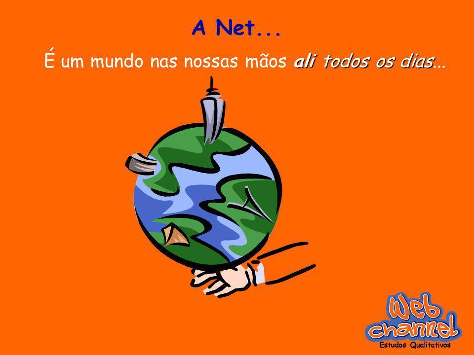 A Net... ali todos os dias É um mundo nas nossas mãos ali todos os dias...
