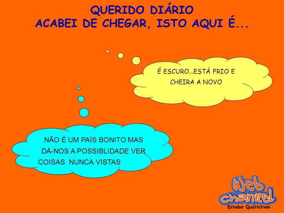 QUERIDO DIÁRIO ACABEI DE CHEGAR, ISTO AQUI É...