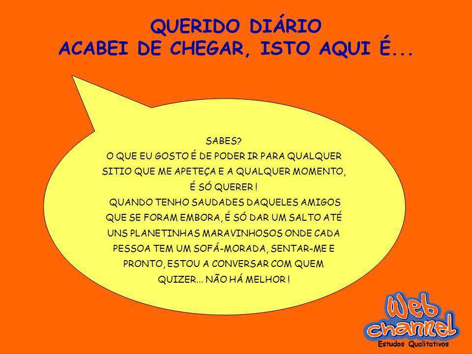 QUERIDO DIÁRIO ACABEI DE CHEGAR, ISTO AQUI É... SABES.
