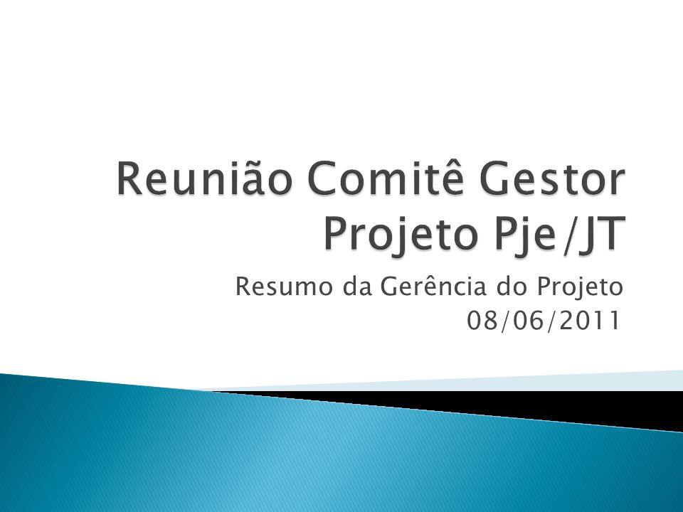 Resumo da Gerência do Projeto 08/06/2011