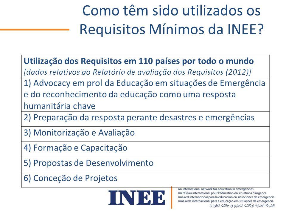 Como têm sido utilizados os Requisitos Mínimos da INEE.