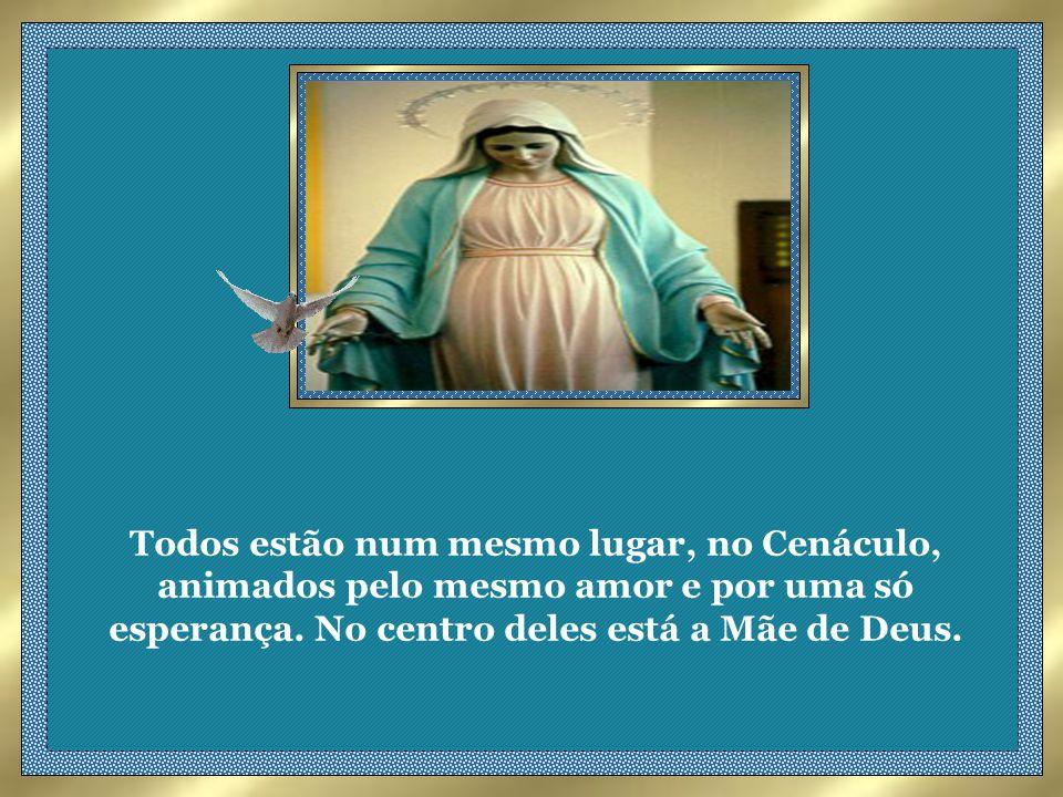 ENQUATO ESPERAVAM A VINDA DO ESPÍRITO SANTO prometido, todos perseveravam unanimemente na oração juntamente com as santas mulheres e Maria a Mãe de Jesus...