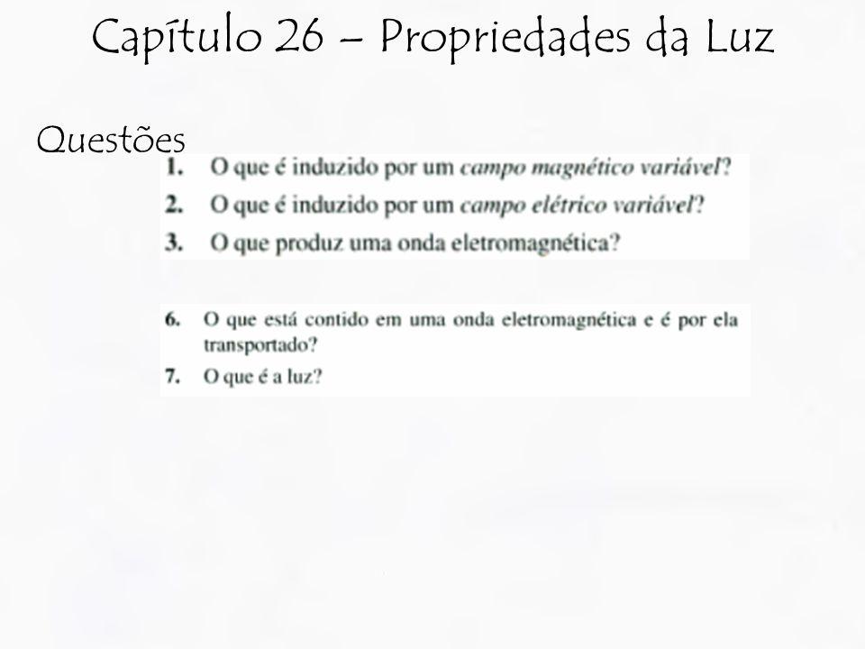 Questões Capítulo 26 – Propriedades da Luz