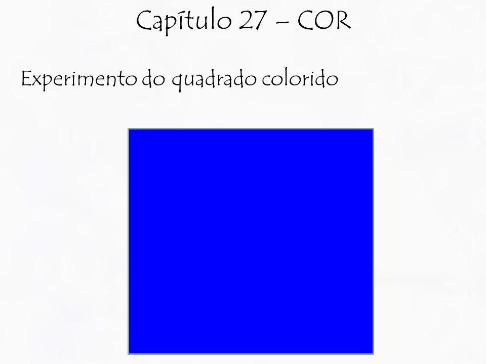 Experimento do quadrado colorido Capítulo 27 – COR