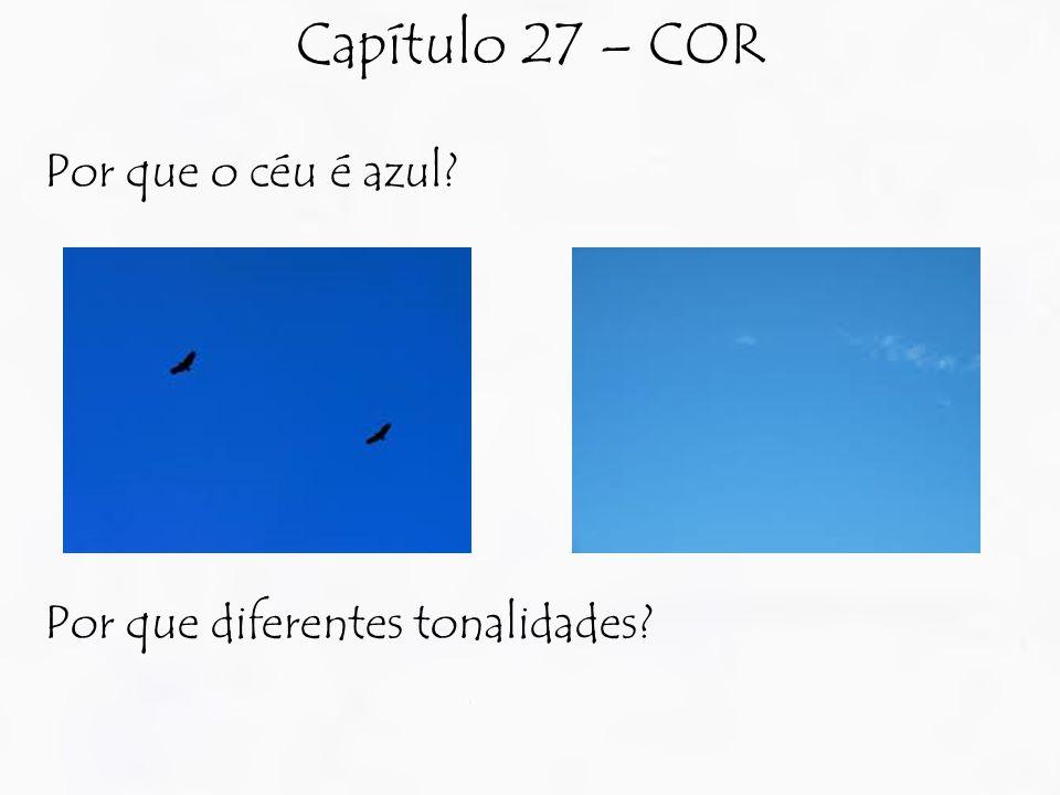 Por que o céu é azul Por que diferentes tonalidades Capítulo 27 – COR