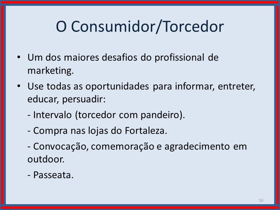 Wilson Bastos O Consumidor/Torcedor Um dos maiores desafios do profissional de marketing. Use todas as oportunidades para informar, entreter, educar,