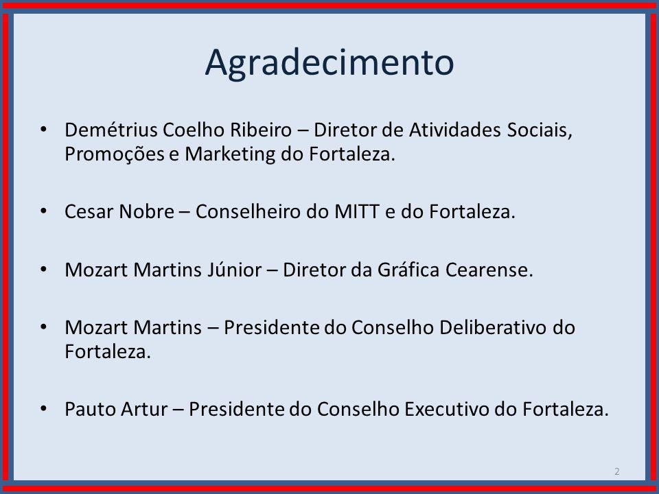 Wilson Bastos Agradecimento Demétrius Coelho Ribeiro – Diretor de Atividades Sociais, Promoções e Marketing do Fortaleza. Cesar Nobre – Conselheiro do