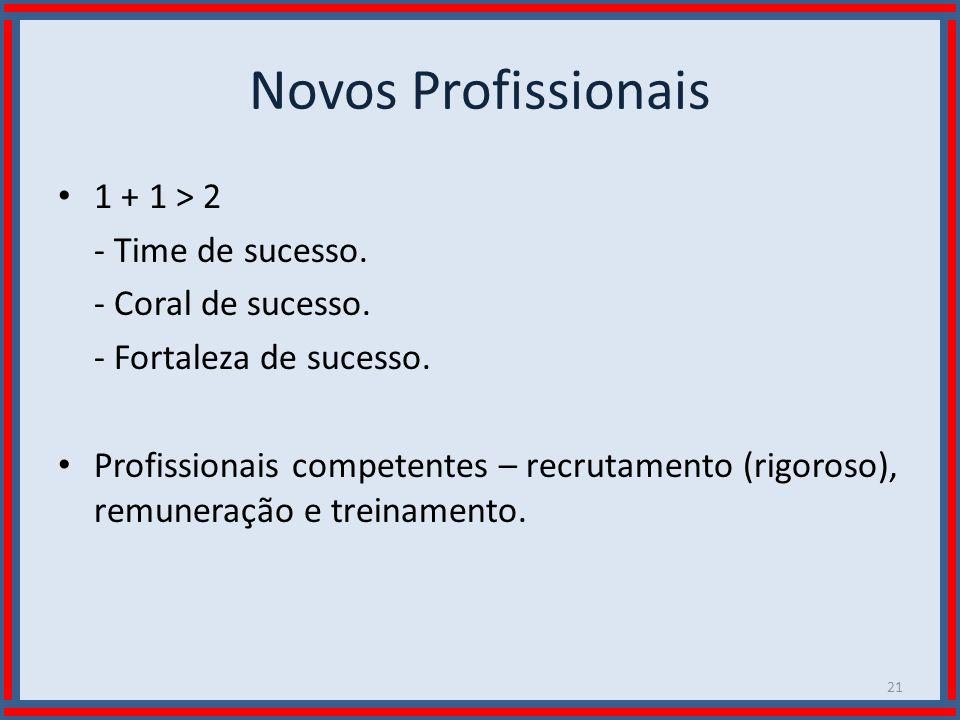 Wilson Bastos Novos Profissionais 1 + 1 > 2 - Time de sucesso. - Coral de sucesso. - Fortaleza de sucesso. Profissionais competentes – recrutamento (r