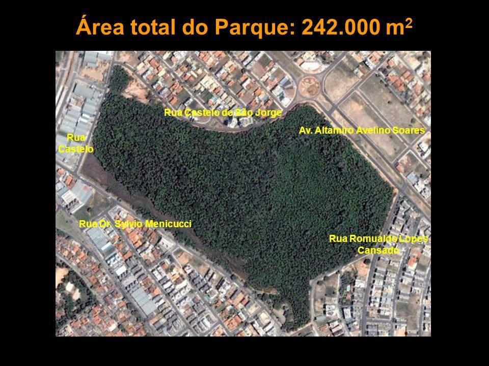 Rua Castelo de São Jorge Rua Castelo Rua Dr. Sylvio Menicucci Av. Altamiro Avelino Soares Rua Romualdo Lopes Cansado Área total do Parque: 242.000 m 2