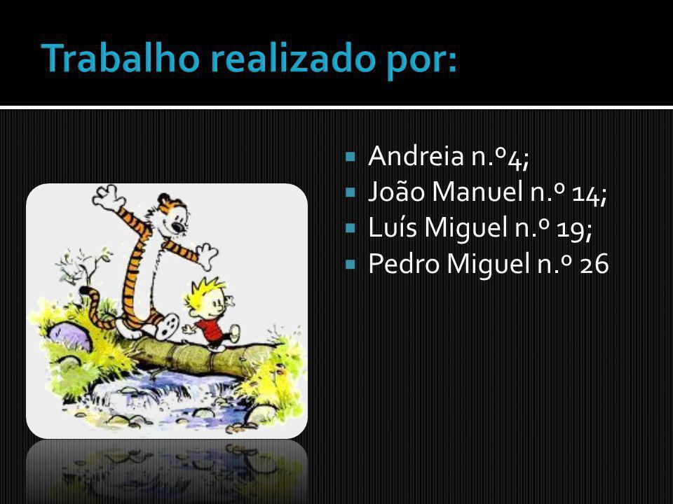 Andreia n.º4; João Manuel n.º 14; Luís Miguel n.º 19; Pedro Miguel n.º 26