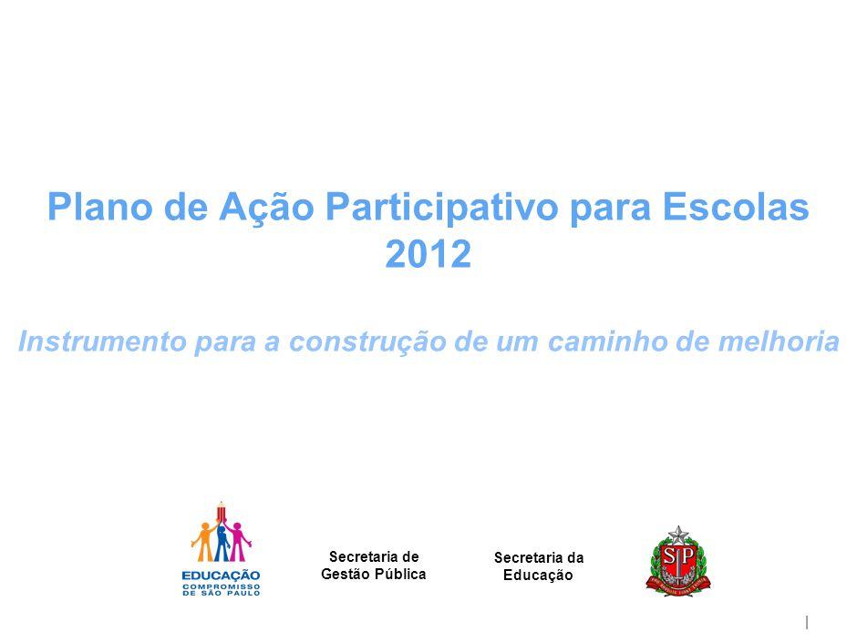 | Plano de Ação Participativo para Escolas 2012 Instrumento para a construção de um caminho de melhoria Secretaria de Gestão Pública Secretaria da Edu