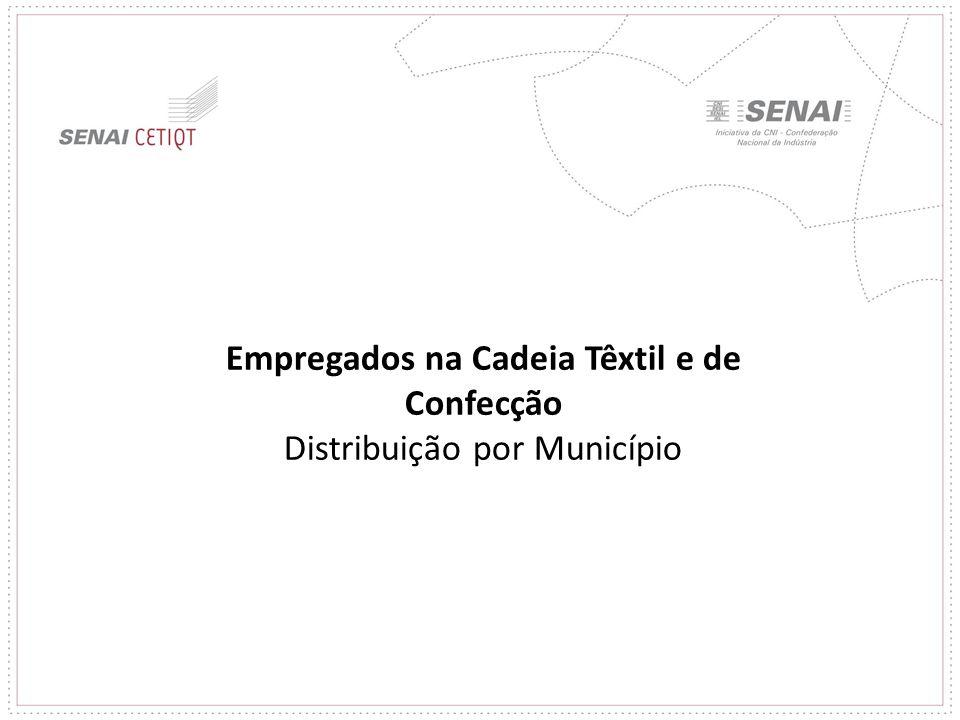Empregados na Cadeia Têxtil e de Confecção Distribuição por Município