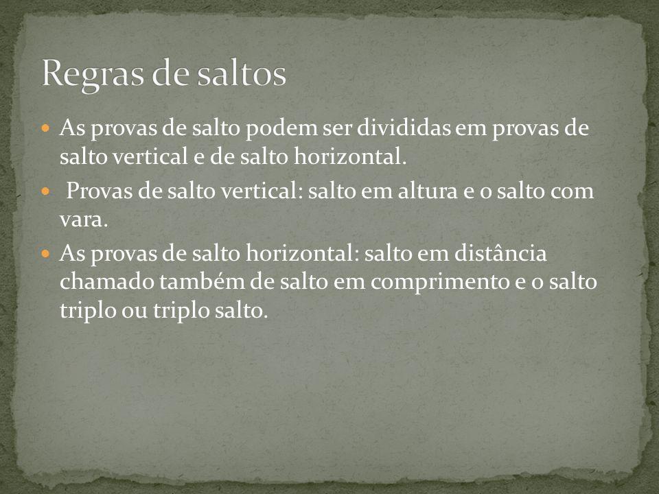 http://pt.wikipedia.org/wiki/Atletismo http://pt.wikipedia.org/wiki/Salto_em_altura http://www.omundodacorrida.com/Altura.htm http://www.cdof.com.br/atletism2.htm