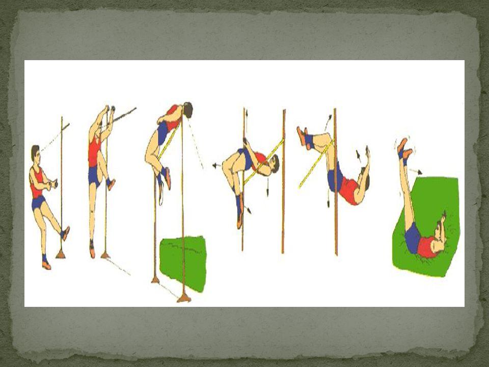 A vara: Não há restrições quanto ao comprimento ou diâmetro da vara, mas geralmente ela mede 2,5 vezes o comprimento do saltador.
