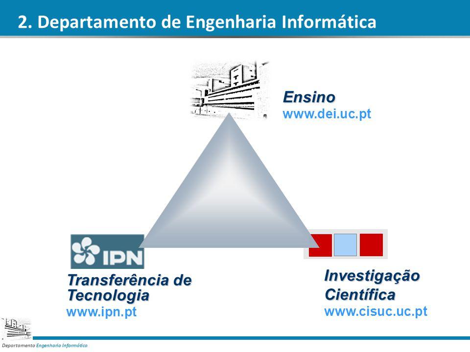 Departamento Engenharia Informática Ensino www.dei.uc.pt InvestigaçãoCientífica www.cisuc.uc.pt Transferência de Tecnologia www.ipn.pt 2. Departamento