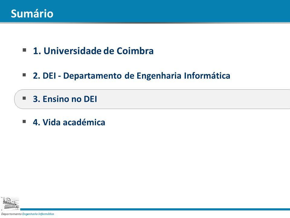 Departamento Engenharia Informática Sumário 1.Universidade de Coimbra 2.