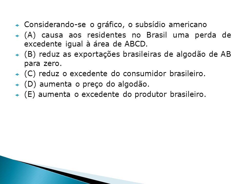 10) Economista - 2009 – SFE No país A, cinco trabalhadores podem produzir 3 carros/mês ou 30 toneladas de milho/mês.