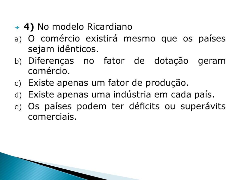5) O País A tem 5.000 unidades de mão-de- obra.