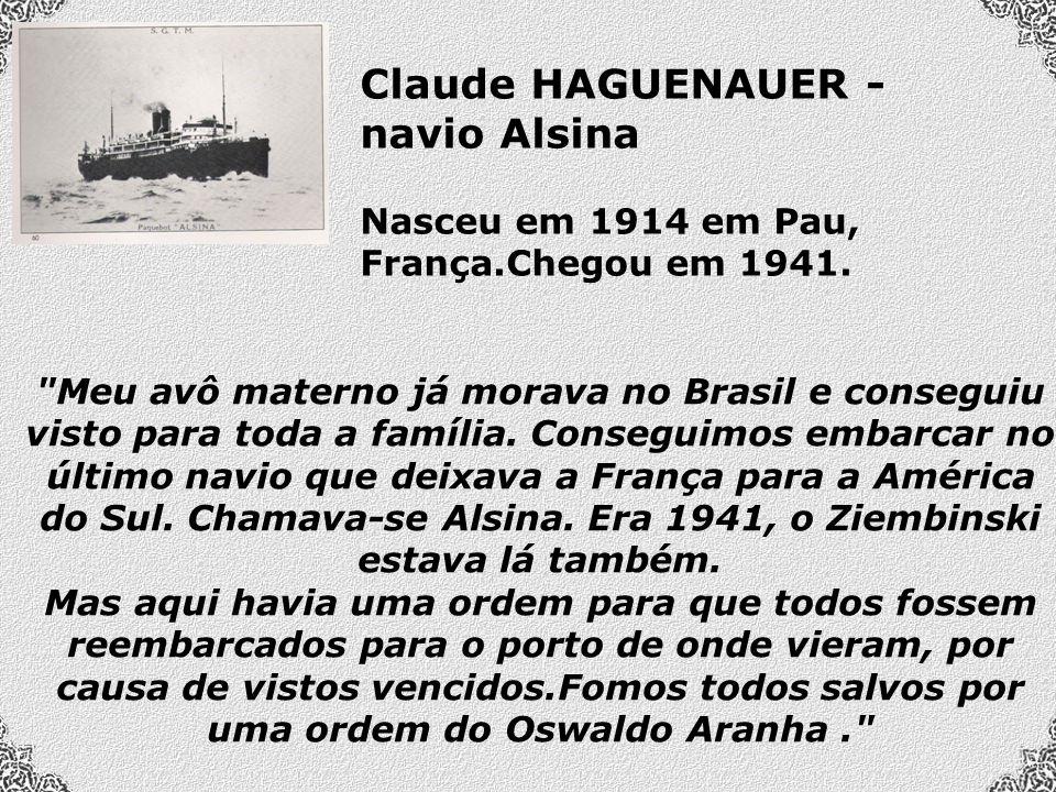 Meu avô materno já morava no Brasil e conseguiu visto para toda a família.