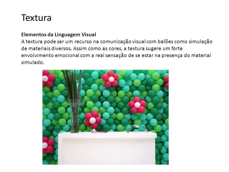 Elementos da Linguagem Visual A textura pode ser um recurso na comunicação visual com balões como simulação de materiais diversos. Assim como as cores