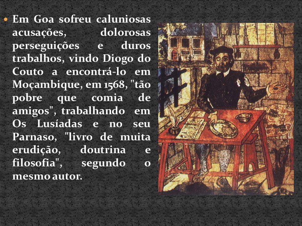 Em Goa sofreu caluniosas acusações, dolorosas perseguições e duros trabalhos, vindo Diogo do Couto a encontrá-lo em Moçambique, em 1568,