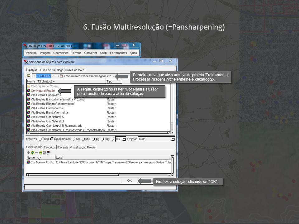 Primeiro, navegue até o arquivo de projeto Treinamento Processar Imagens.rvc e entre nele, clicando 2x.