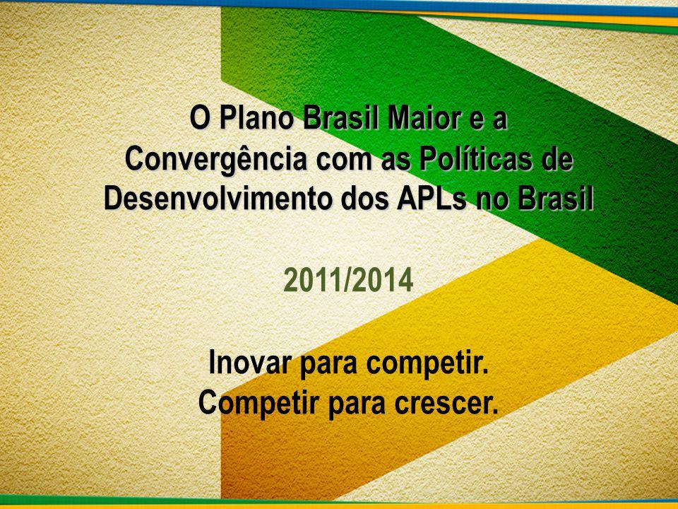 O Plano Brasil Maior – PBM tem como objetivo a adoção de políticas em favor do desenvolvimento industrial e tecnológico, sendo atualmente uma das principais vertentes do Governo.