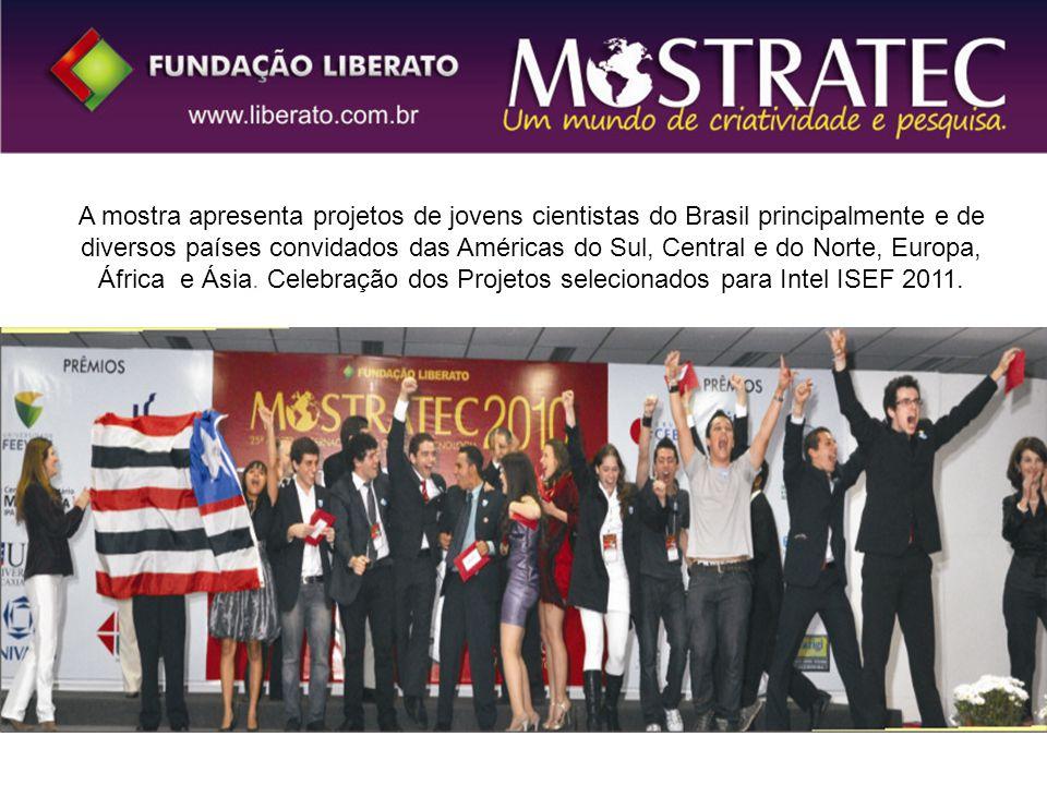 A mostra apresenta projetos de jovens cientistas do Brasil principalmente e de diversos países convidados das Américas do Sul, Central e do Norte, Eur