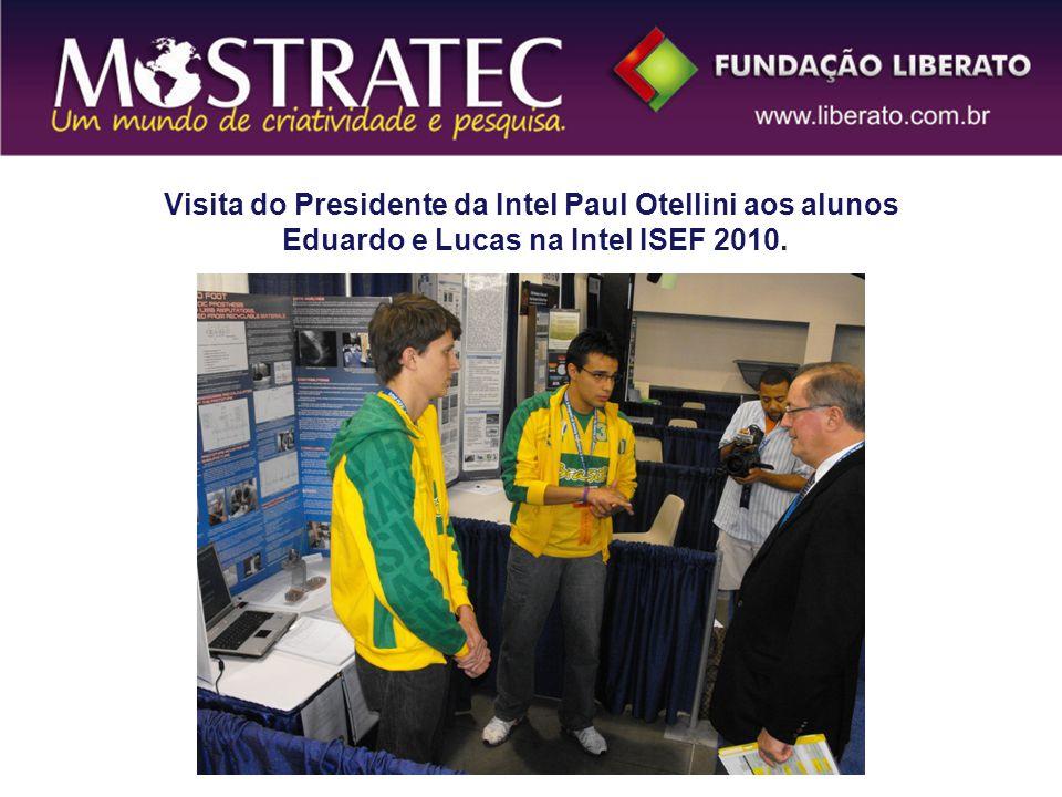 Visita do Presidente da Intel Paul Otellini aos alunos Eduardo e Lucas na Intel ISEF 2010.