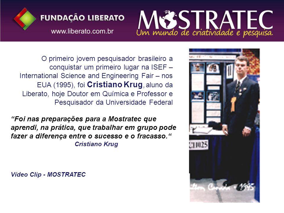 O primeiro jovem pesquisador brasileiro a conquistar um primeiro lugar na ISEF – International Science and Engineering Fair – nos EUA (1995), foi Cris