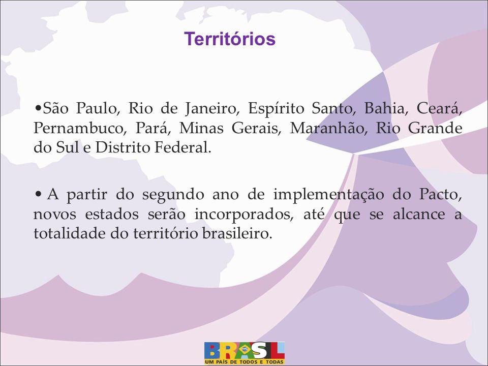 São Paulo, Rio de Janeiro, Espírito Santo, Bahia, Ceará, Pernambuco, Pará, Minas Gerais, Maranhão, Rio Grande do Sul e Distrito Federal. A partir do s