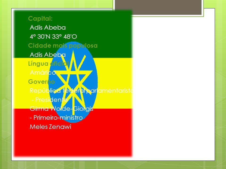 Área - Total 1 104 300 km² (27.º) - Água (%) 0,7 Fronteira Sudão, Sudão do Sul, Somália, Eritreia, Djibuti