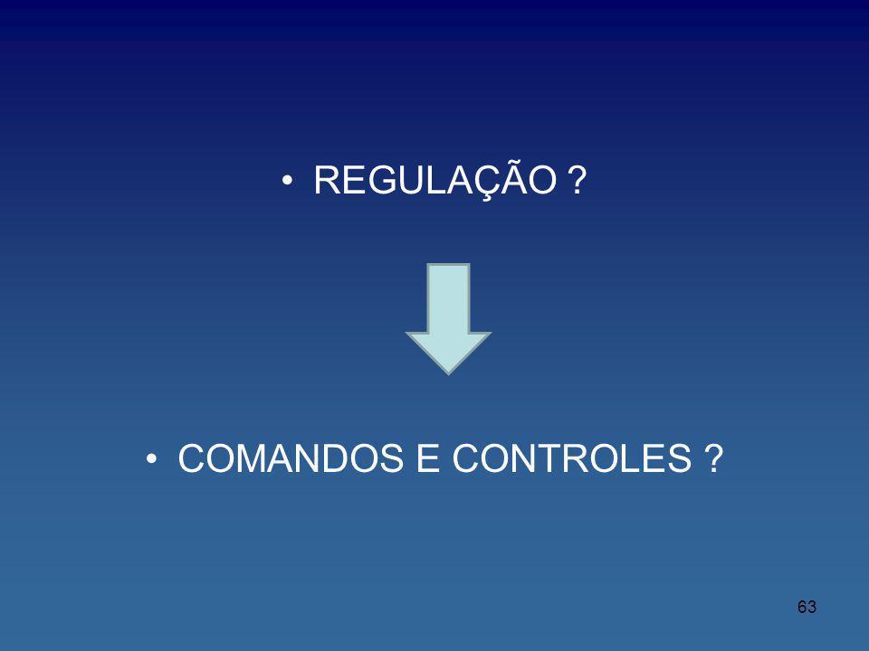 REGULAÇÃO ? COMANDOS E CONTROLES ? 63