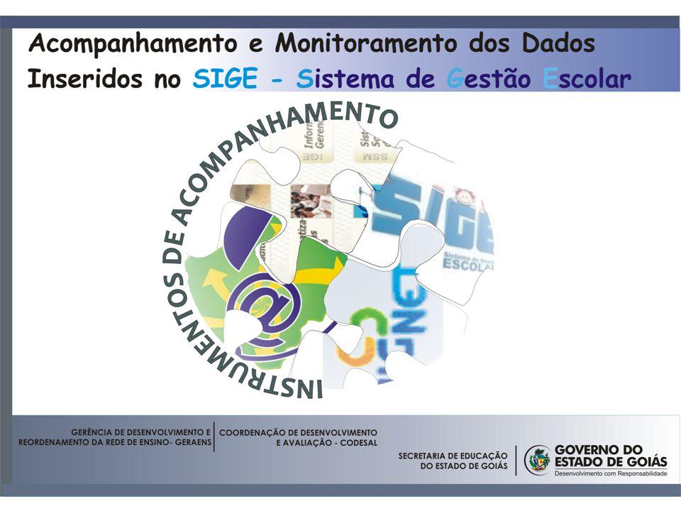 Convênios; Estadualização; Criação; Reordenamento; Acompanhamento e Monitoramento dos Dados Inseridos no SIGE - Mensal Repasse; Matrícula PAR – Plano de Metas.